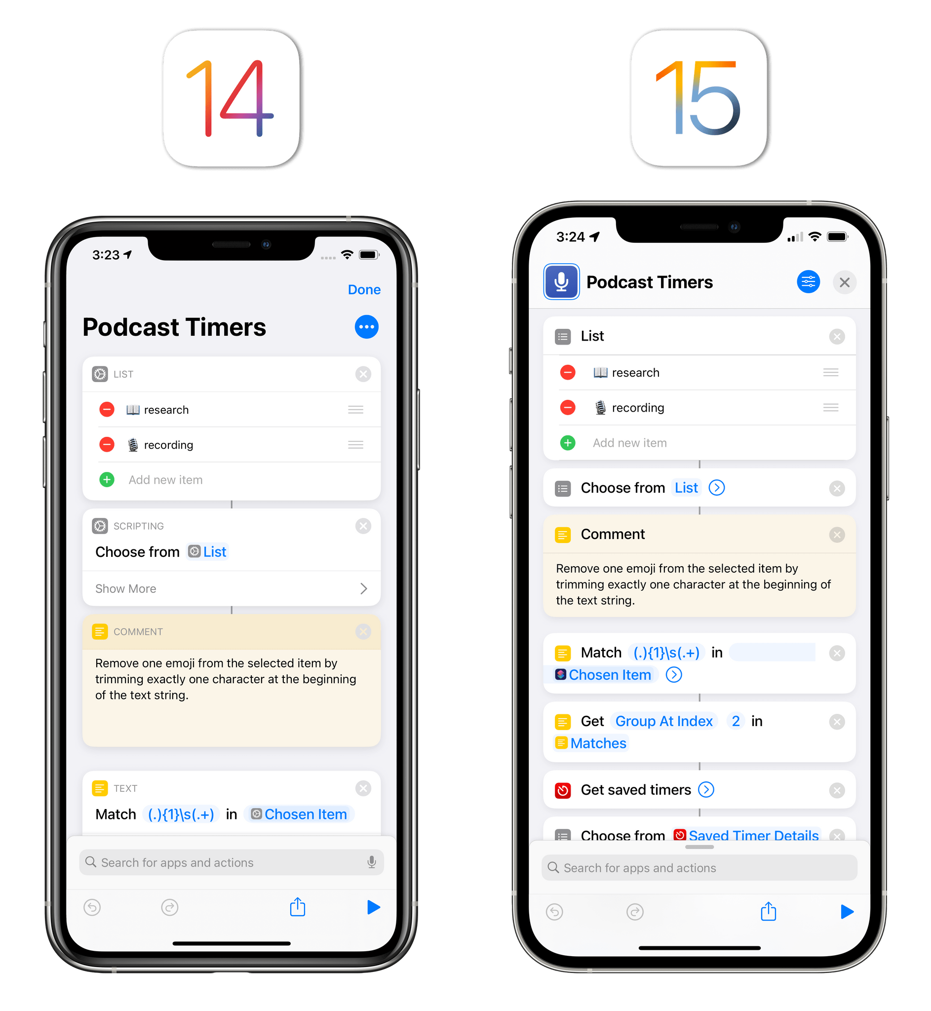 The new, more compact Shortcuts editor.