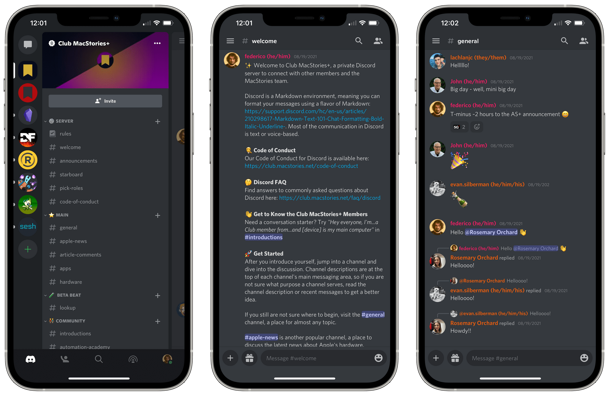 Our Discord server for Club MacStories+ and Club Premier members.