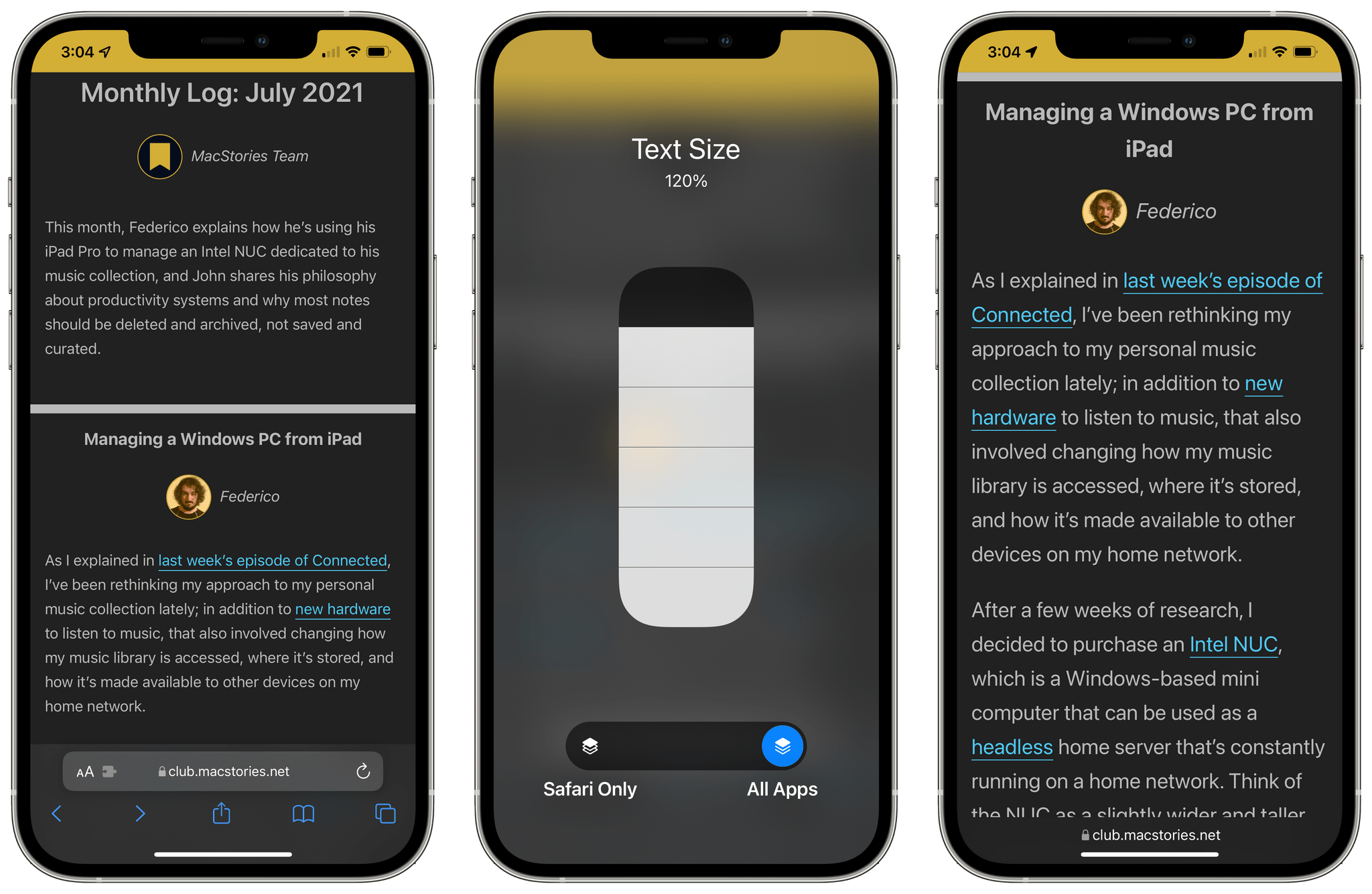 Calliope fully supports accessible text sizes on iOS and iPadOS.