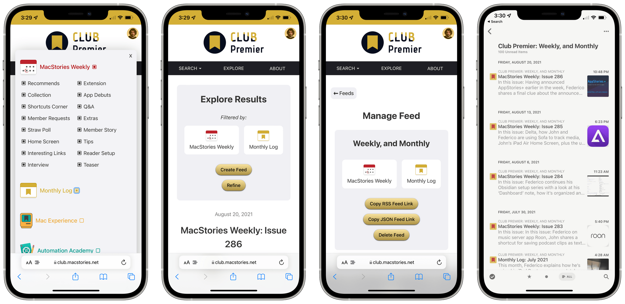 Creating a feed in Calliope and viewing it in Reeder.