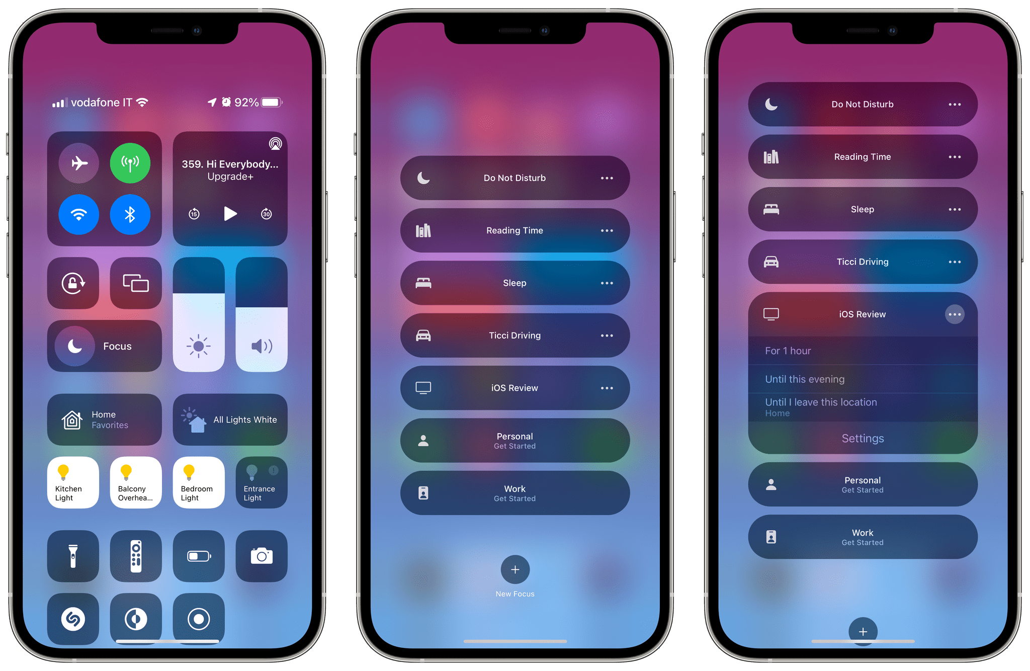 Focus in iOS 15's Control Center.