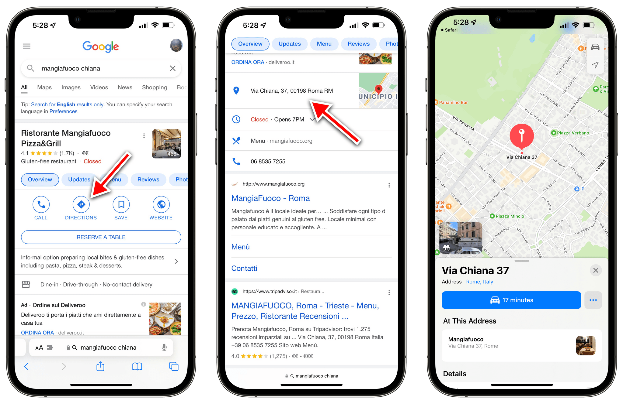 All of these place links get redirected to Apple Maps with Mapper.