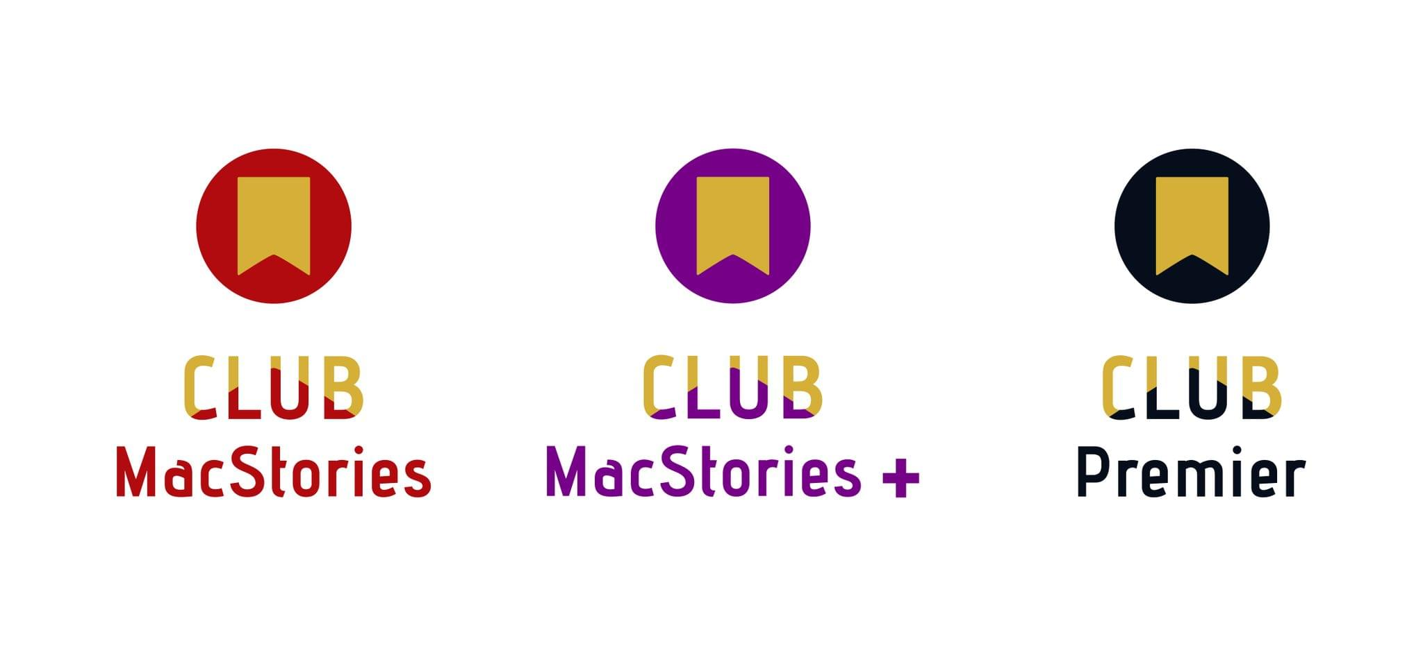 Our new Club MacStories identity and the three tiers.