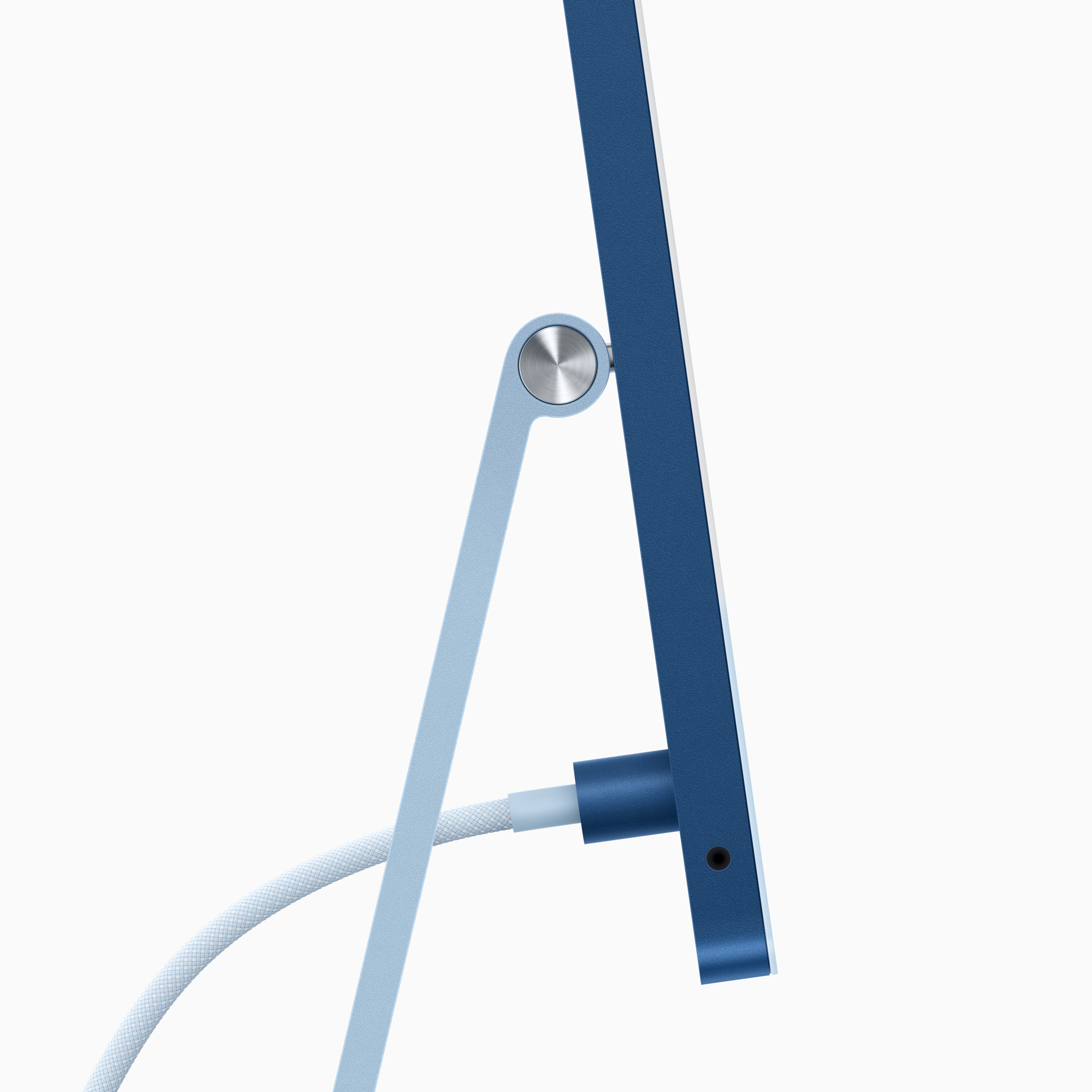 The iMac's magnetic power cable.