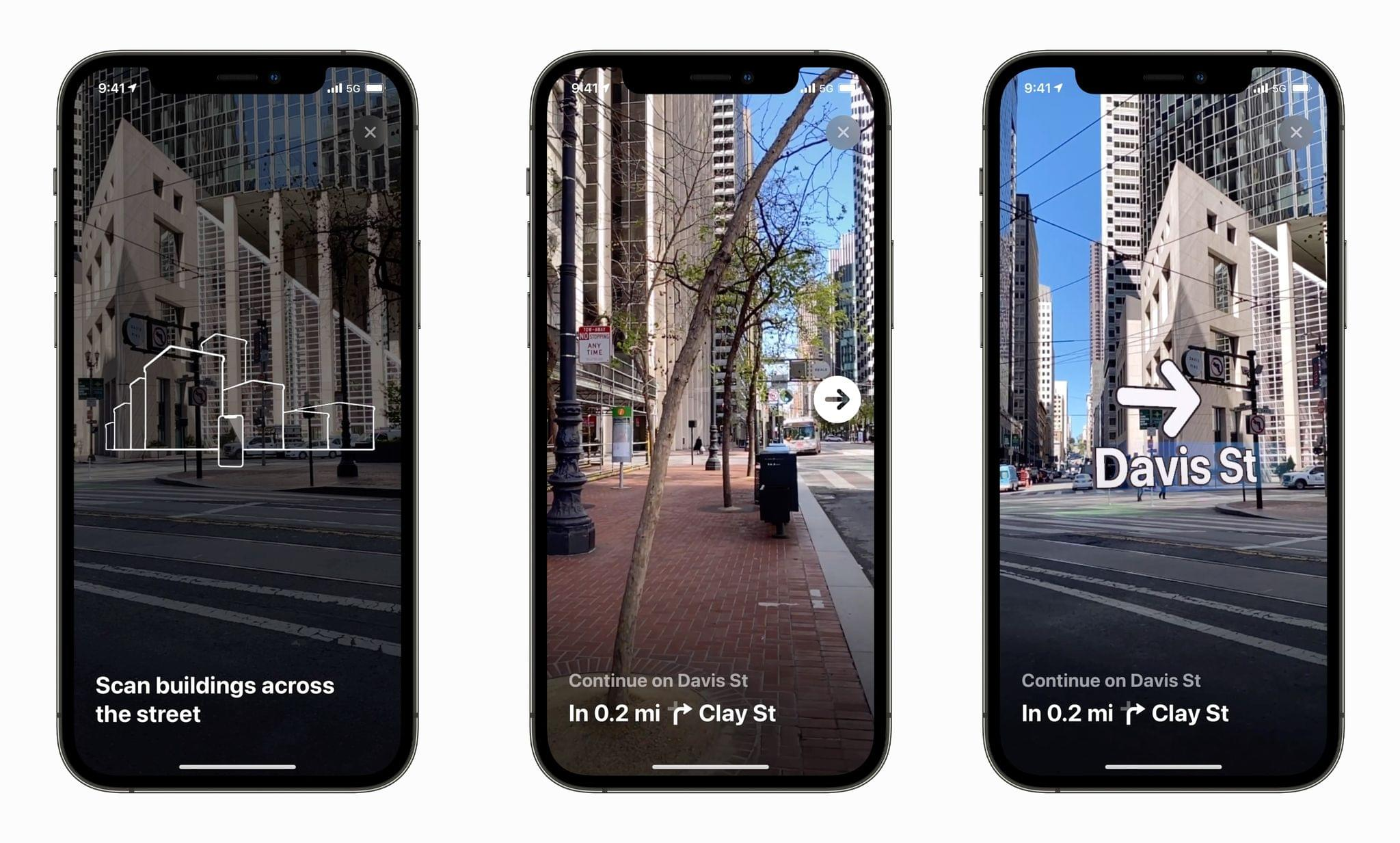 AR walking directions are coming to Maps. Source: Apple.