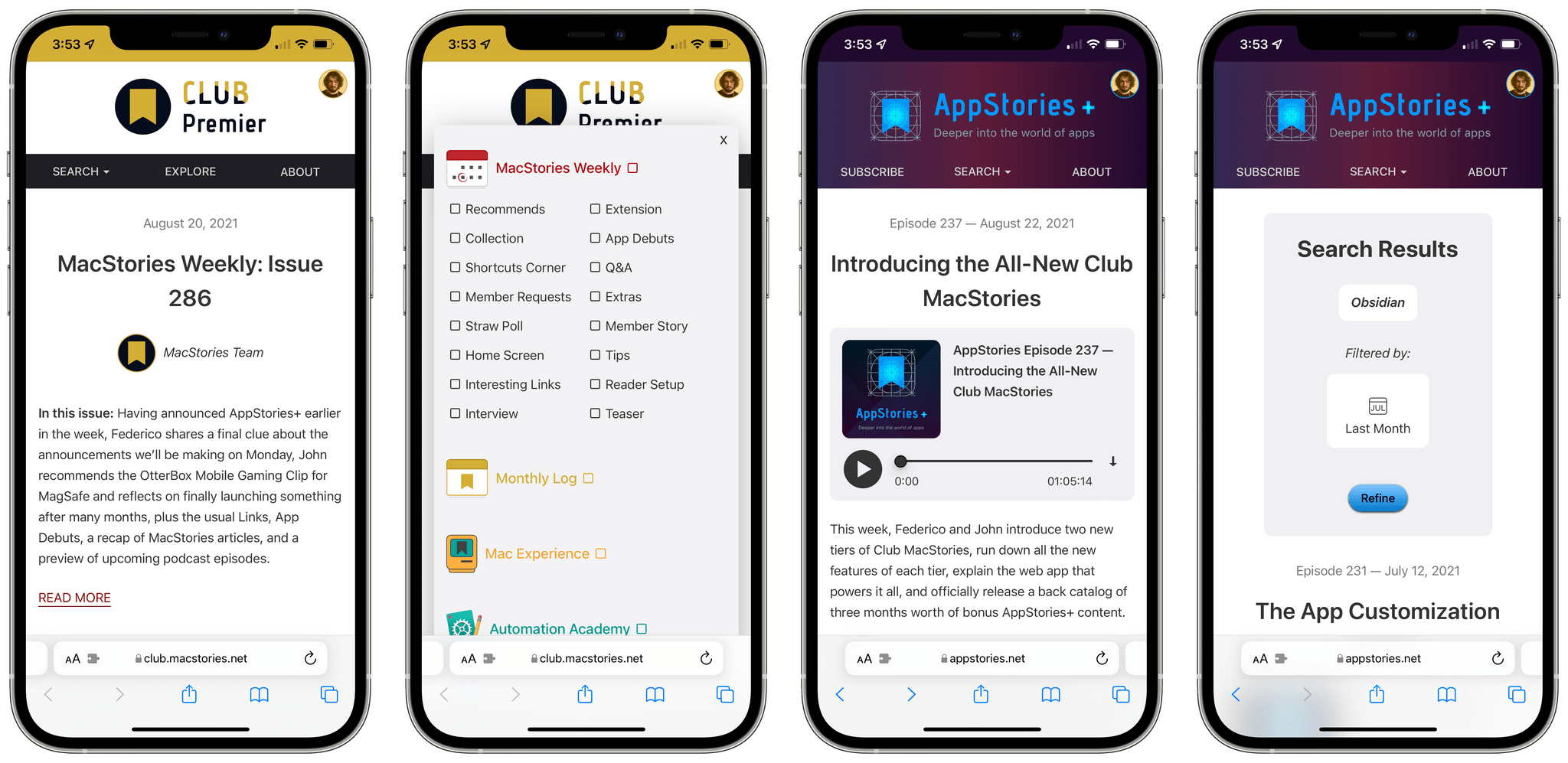 Our new web app for Club MacStories and AppStories, Calliope.