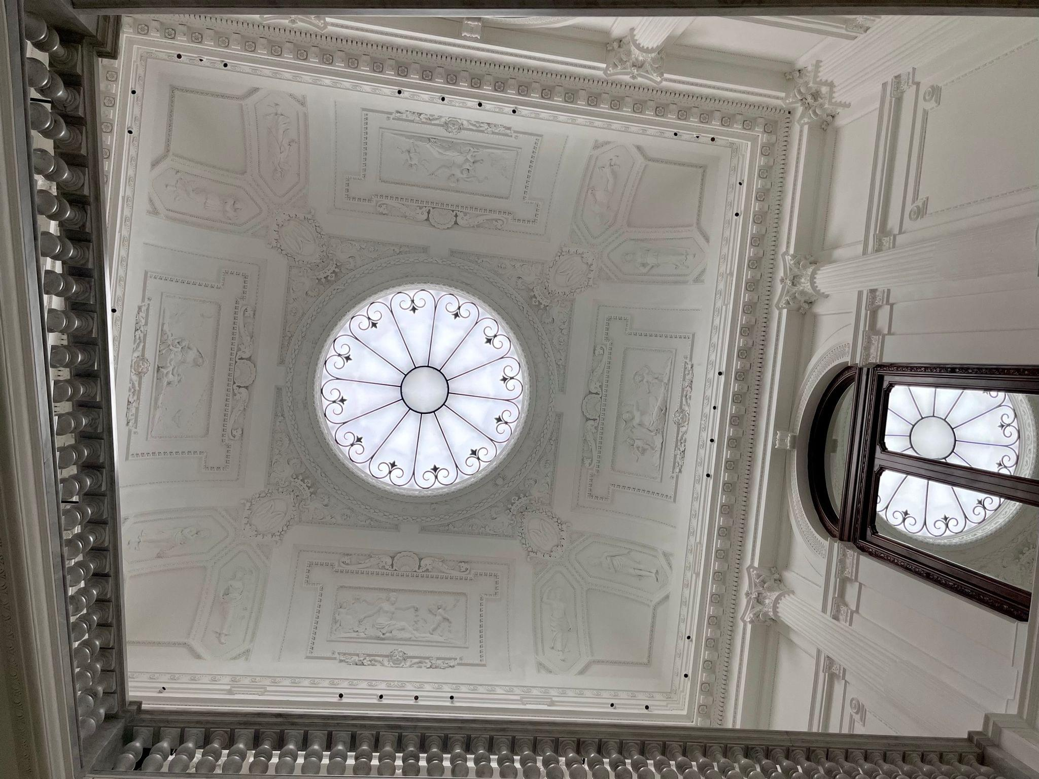 The skylight from below.
