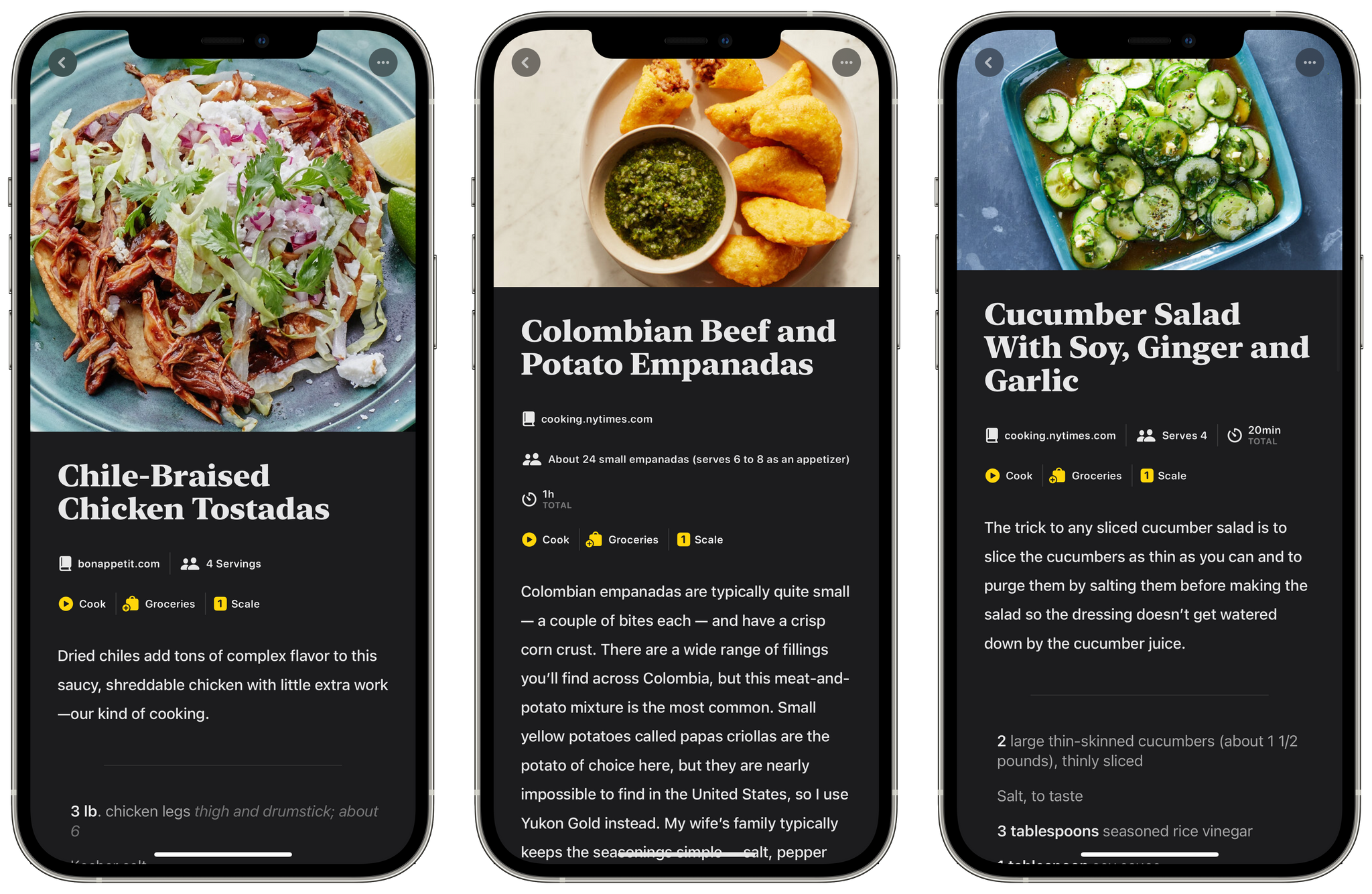Its smaller screen isn't ideal for cooking, but the iPhone is an excellent way to find new recipes.