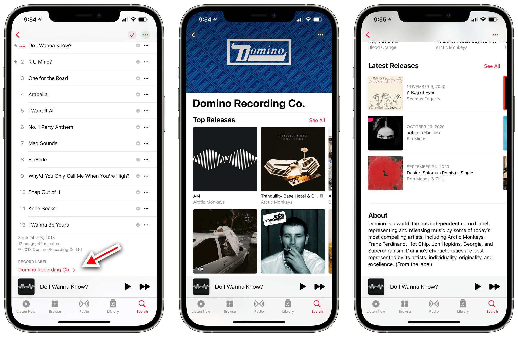 New record label pages in iOS 14.5.