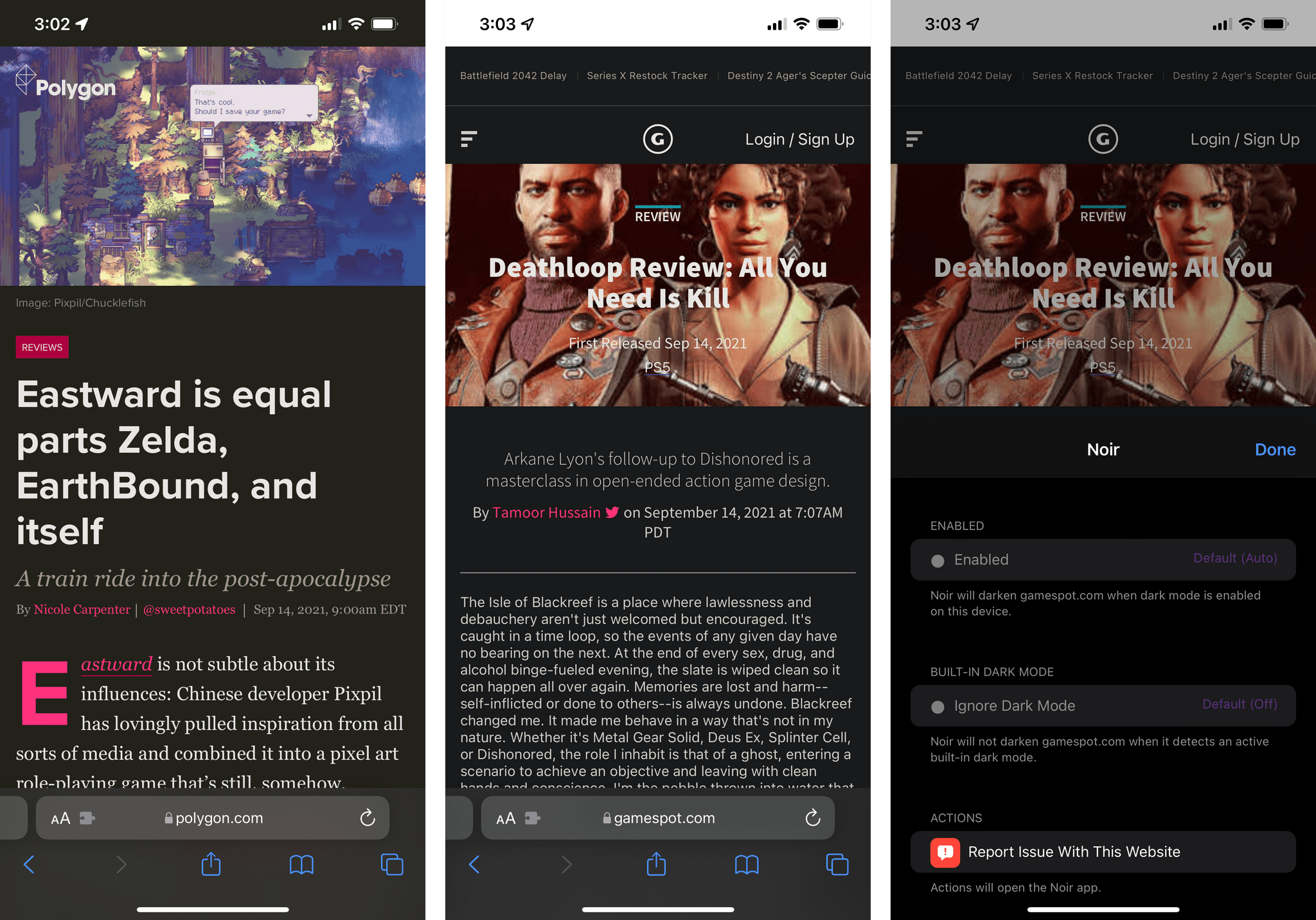 Your favorite website doesn't have a dark mode? Not a problem with Noir.