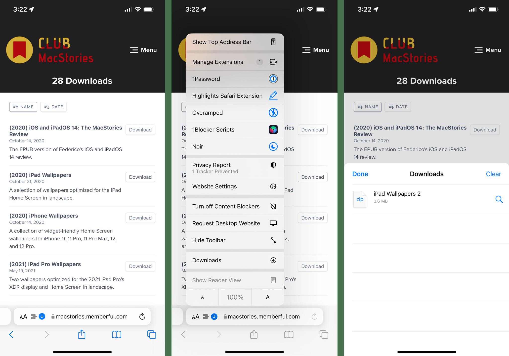 The new Safari download flow in iOS 15.
