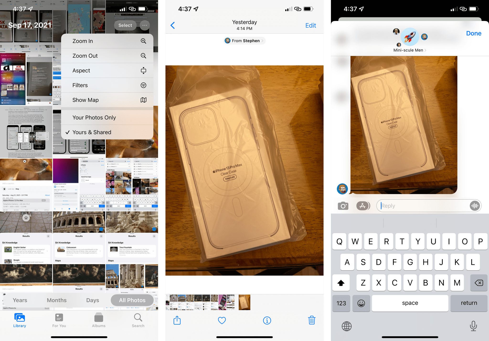 You can view images Shared with You in the Photos app, but you can also filter those out.