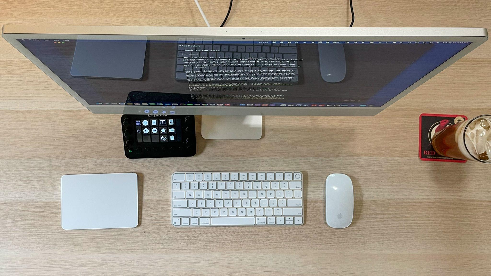The M1 iMac is barely there when viewed from the side.