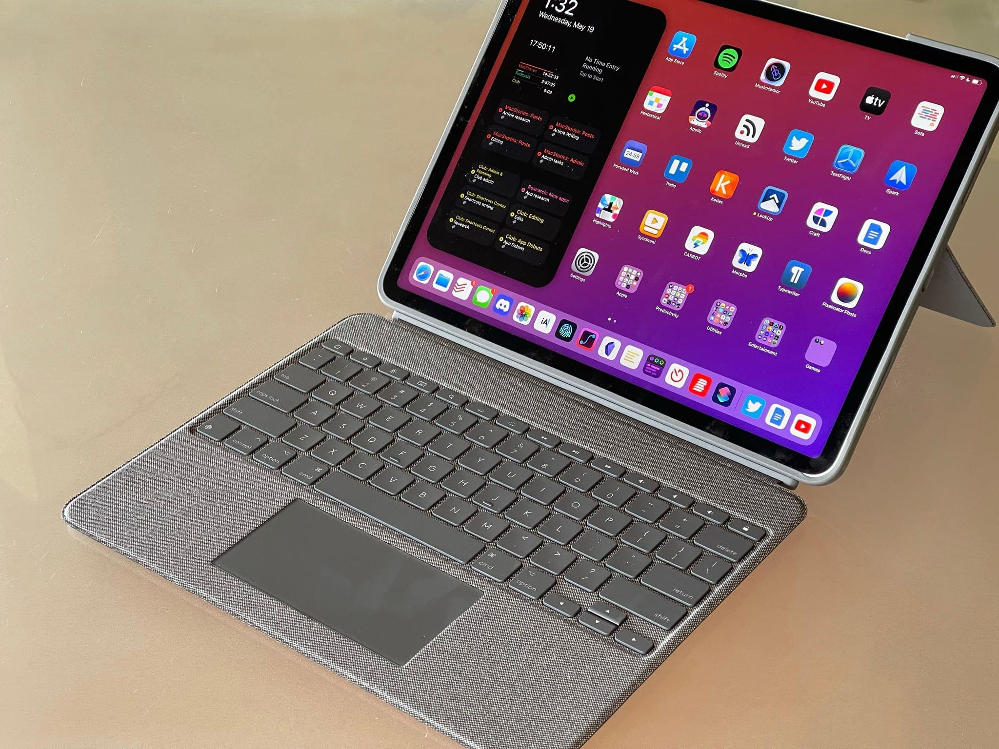 The Logitech Combo Touch for iPad Pro.