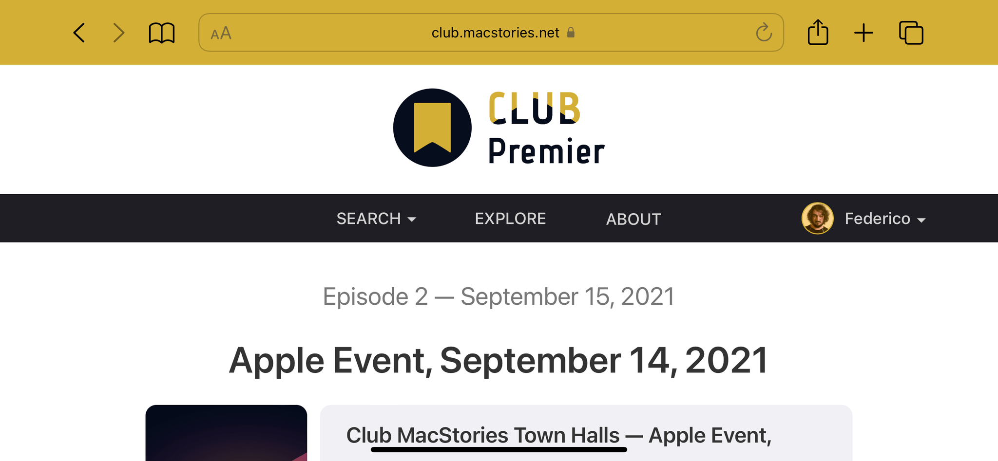 No tab bar in landscape for this iPhone.