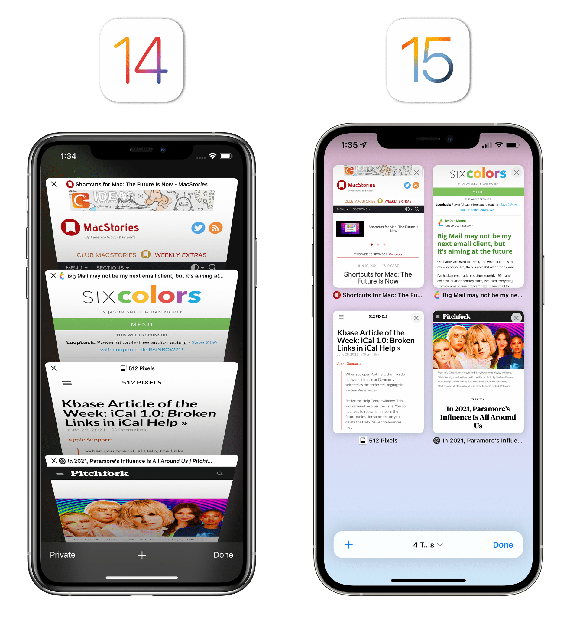 The new tab view is a big win for iOS 15's Safari. It's one of the few elements I'd keep.
