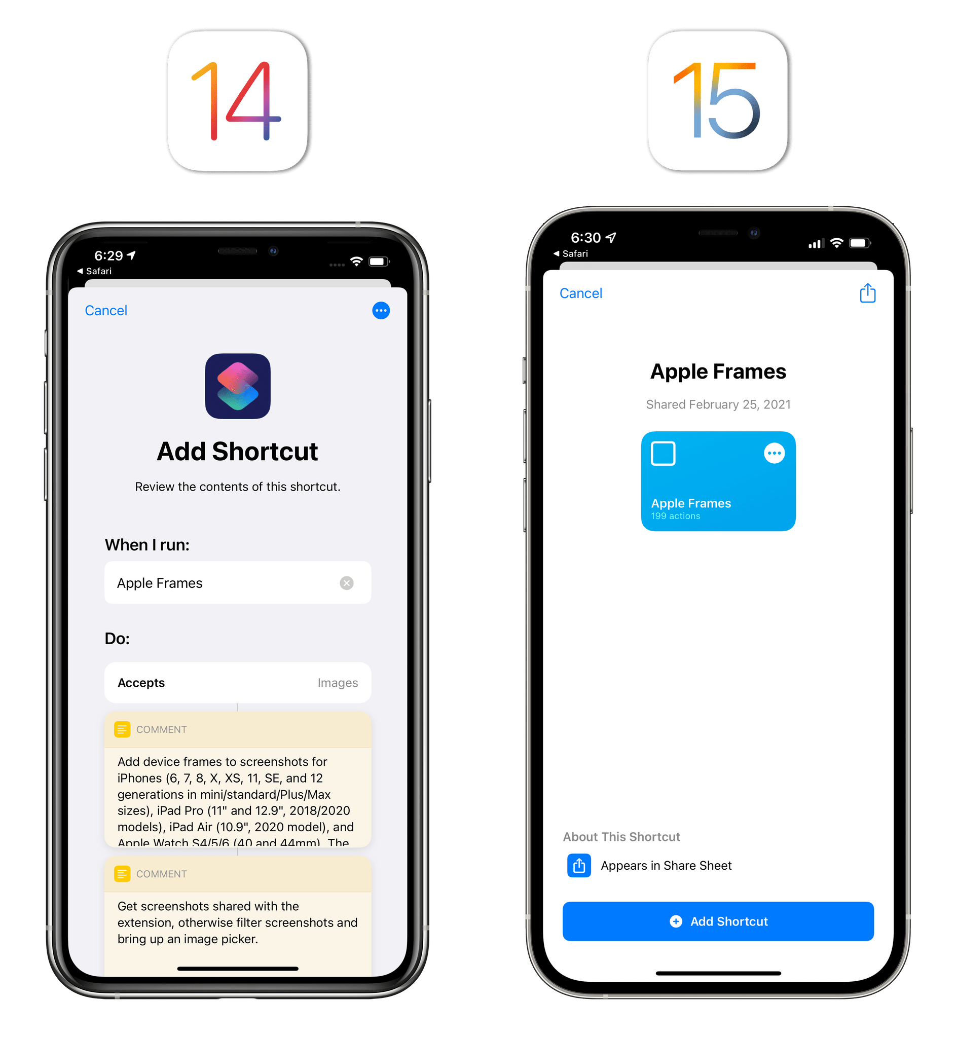 iOS 15 makes it easier to install shortcuts shared as links.