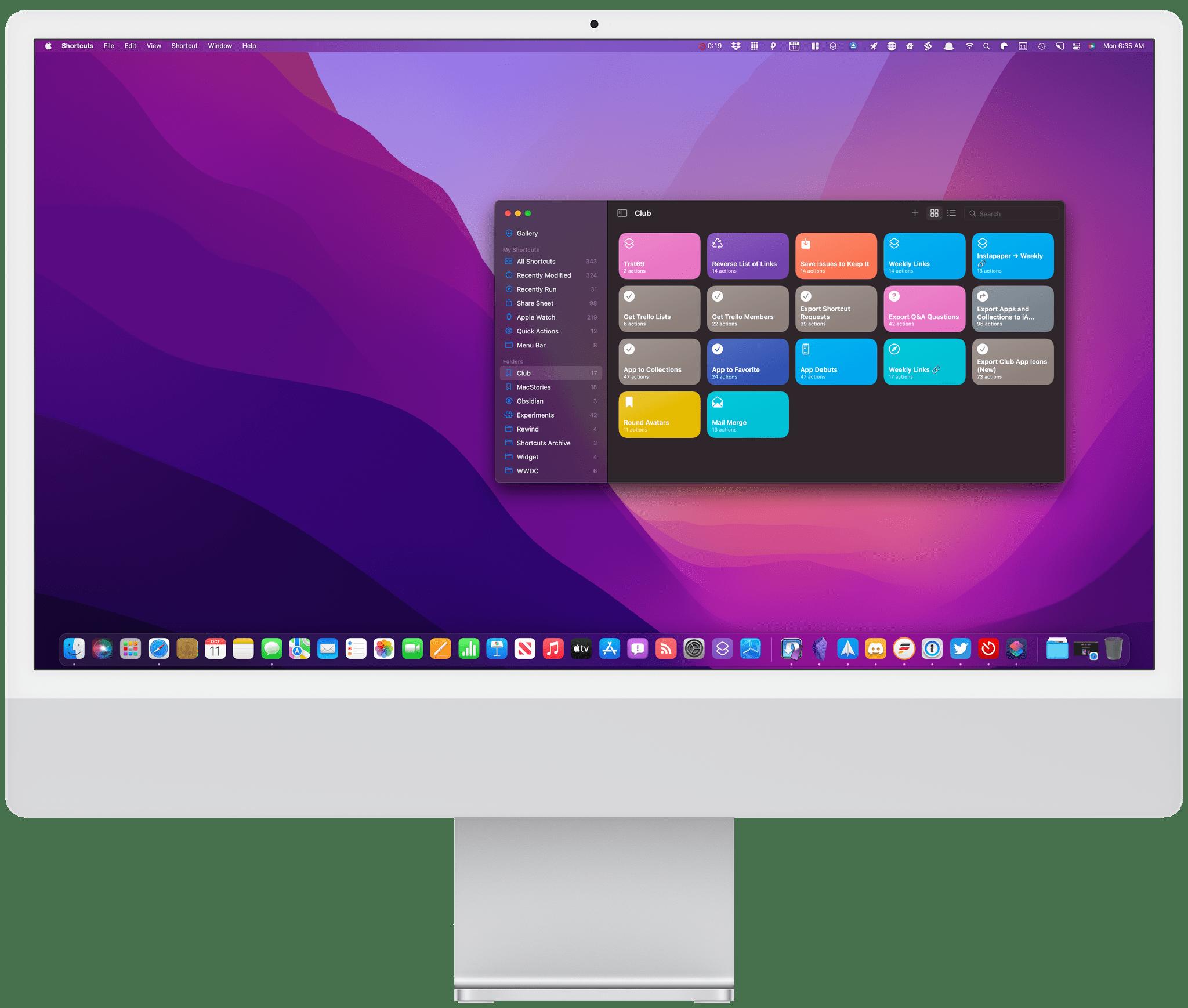 A framed iMac screenshot.