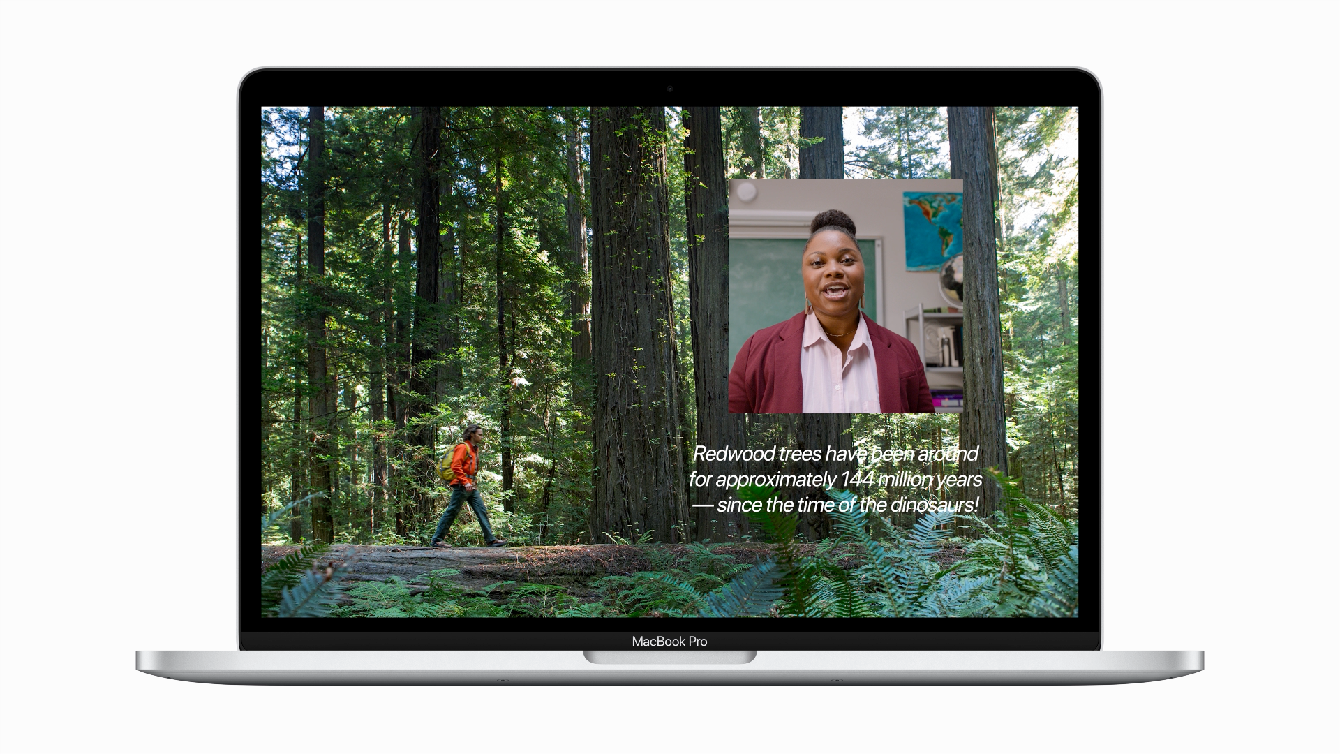 Keynote presentations can be combined with live video. Source: Apple