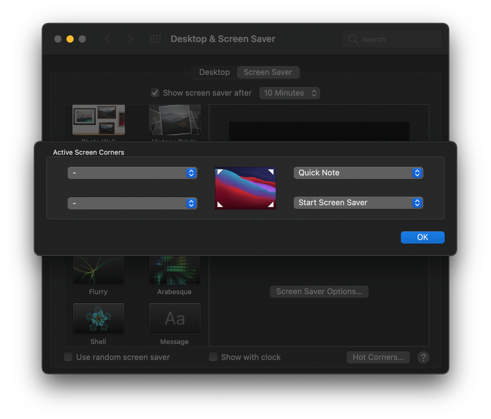 Quick Note can be assigned to Hot Corners on the Mac.
