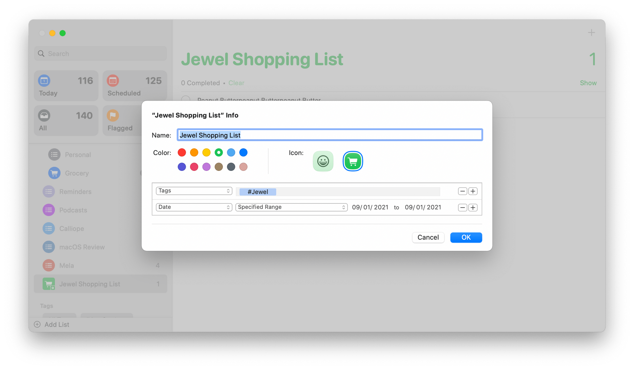 With Smart Lists, you can combine multiple filters to create a custom list.