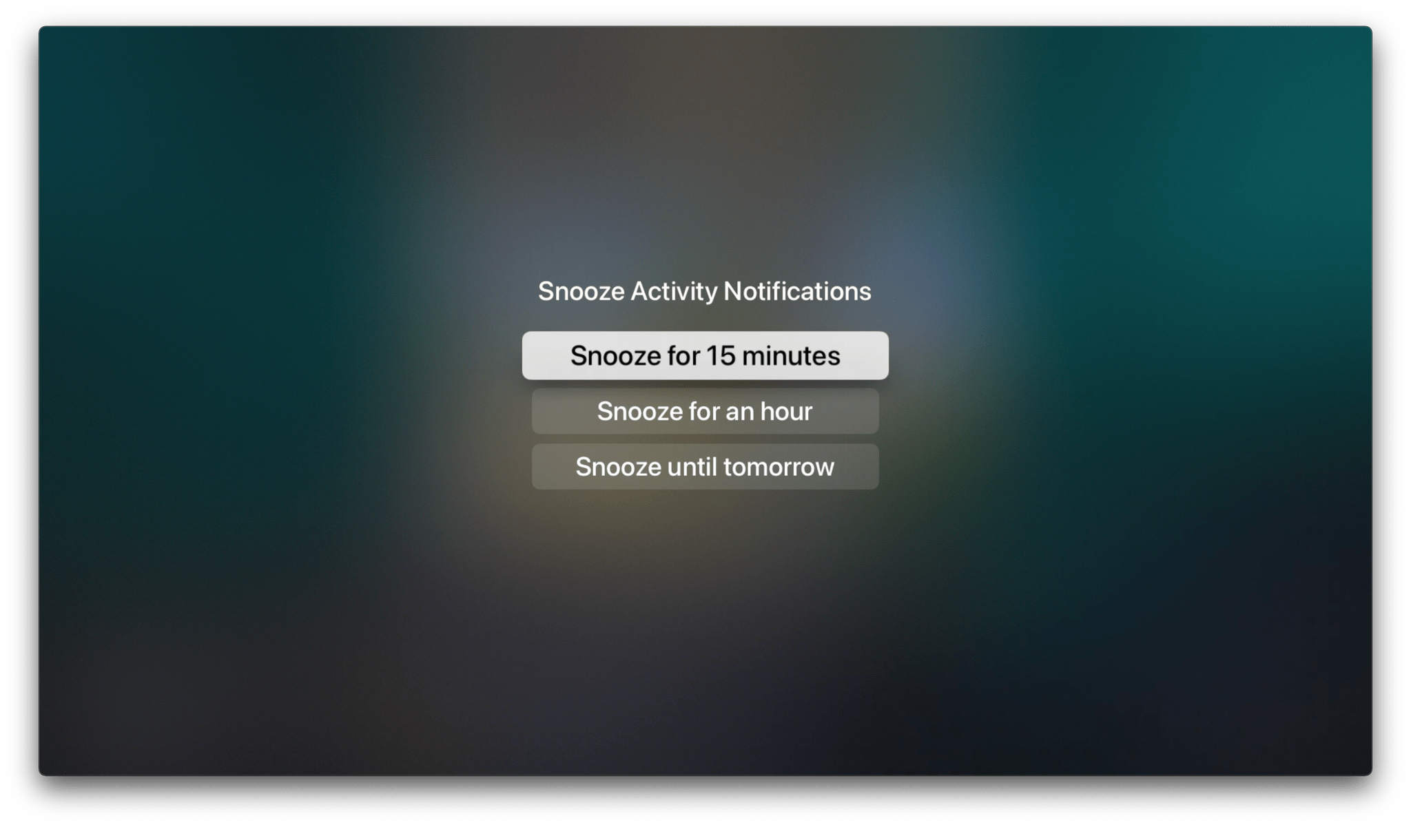 You can snooze tvOS camera notifications if you expand one first.